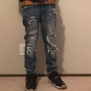 Skinny acid washed American eagle outfitters jeans